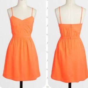 NWT Neon Orange J Crew Dress